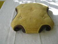 Victorian Child's Kneeling Prayer Ottoman Footstool Pin Cushion Six Scroll Feet
