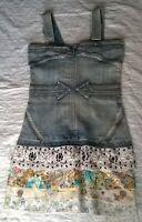 Tunique original jeans & Broderie Taille 38