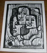 Margaret Burroughs Important African American Artist, Faces of Family Lithograph