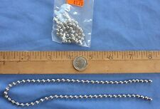 Bead Chain Eyes * Large * Silver * Lot of 2 Beadchain * Fly Tying Material * 30""