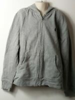 BOYS POLO RALPH LAUREN AGE 10-12 YEARS GREY HOODED ZIP UP SWEATSHIRT JACKET TOP