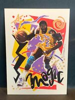 1990 NBA Hoops | Magic Johnson | Team Checklist #367 | ART CARD INSERT | MINT