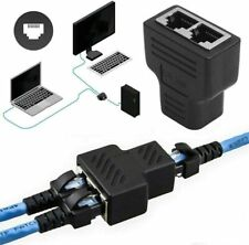 Répartiteur 1 entrée 2 Sorties Splitter Adaptateur RJ45 Ethernet Réseau