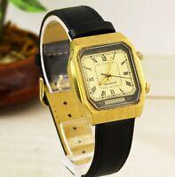 RARE Rectangle USSR Poljot Alarm's & Vibrates AU men's wristwatch. Cal. 2612.1