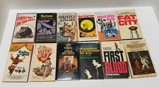 Vintage 60's/70's Movie Tie-In Novels (First Blood, Fat City, & more) Lot of 12