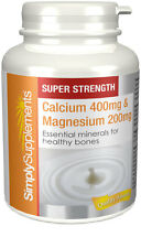 Calcium 400mg & Magnesium 200mg | 120 Tablets | Strengthens bones and teeth