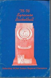 1975-76 SYRACUSE ORANGE BASKETBALL(NCAA Regional) media guide, Marty Byrnes