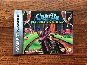 Charlie and Chocolate Factory Nintendo Gameboy Advance Instruction Manual Only