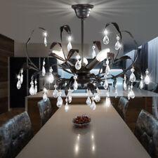 Style maison campagne laisse plafond lampe verre cristaux salle à manger rouillé