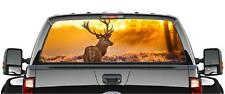 DEER SUNSET PICK-UP TRUCK BACK WINDOW GRAPHIC DECAL PERFORATED VINYL