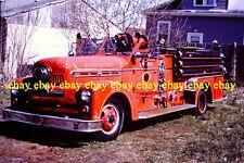 Fire Apparatus Slide Johnston Rhode Island Fire Dept 1952 Seagrave Pumper RI16