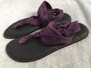 SANUK YOGA MAT Sling It On Womens Size 11 Purple SANDALS SC8