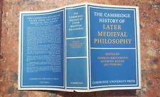 The Cambridge History of Later Medieval Philosophy, 1982 MEDIOEVO FILOSOFIA