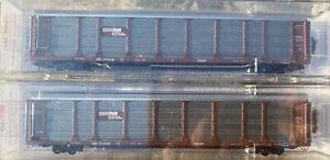 N scale Tri Level Auto Rack TTX trailer train set MTL Norfolk Southern NS 2RD#