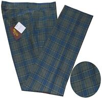 Relco Men's Sta Press Blue Tartan Checked Punk Golfing Stay Pressed Trousers