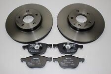 Original Brake Discs 10 15 / 16in+Front Pads Ford Focus - C - Max 1790221