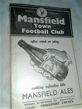 1957/8 MANSFIELD TOWN V STOCKPORT COUNTY DIV 3
