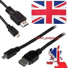 HDMI to MICRO USB Cable Lead Digital camera Amazon Kindle Fire HD LCD TV 1080p