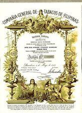 Comp. Gen de Tabacos de Filipinas Aktie Barcelona 1982 Spanien Tabak Philippinen