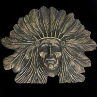 Native American Indian Western Cowboy Tribal Hippie 1970s Vintage Belt Buckle
