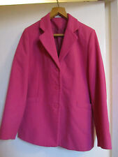 Hip Length Cerise Pink Cotton Traders Jacket in Size 14
