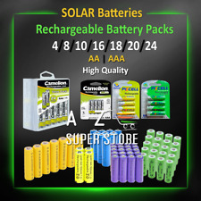 Solar Battery Pack 4 8 10 20 Rechargeable Batteries AA/AAA 600mAh 800 lot Nimh