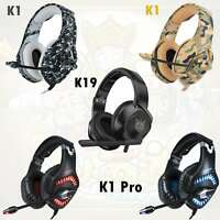 K1 Gaming Headset Camo 3D Stereo Headphone Earphone with Mic for PS4 Xbox One PC