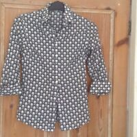 Ladies Hawes& Curtis semi fitted 70s inspired blouse size 10