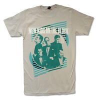 """NEW KIDS ON THE BLOCK """"GREEN LINES"""" LIGHT GREY T-SHIRT NEW OFFICIAL ADULT"""
