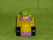 Fisher Price Little People Wheelies Yellow Farm Tractor