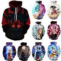 3D Anime Dragon Ball Z Pullover Sweatshirts Hoodie Men Women Coat Jumper Outwear