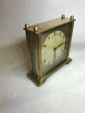 Vintage Heavy Brass Rensie By F. Mauthe 7 Jew. 8 Day Shelf, Mantel Clock Germany