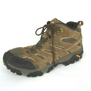 Merrell Mens Moab 2 Mid Size 13 Wide 13W Waterproof Hiking Boots Earth Suede