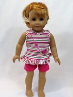 "Watermelon Delight Short Set Fits 18"" American Girl Doll Clothes"