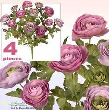 Lot of 48 Ranunculus Flowers Artificial Silk Plant MVTT