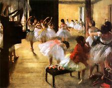Ballet Rehearsal Art Poster Print by Edgar Degas, 14x11
