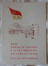 DDR - GEDENKBLATT A4 - IX. PARTEITAG der SED 1976 - ohne MARX/ENGELS PORTRÄT