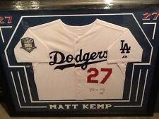 Matt Kemp Signed Autographed Custom Framed Jersey