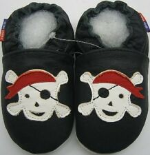 Minishoezoo pirate black 2-3Toddler slippers leather shoes free shipping