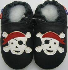 Mini Shoezoo pirate black 0-6 m soft sole baby leather