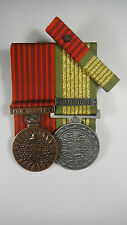 Set of 2 Replica Bravery Medal + National Emergency Medal + Ribbon Bar