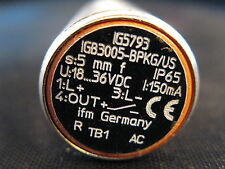 IFM Efector Inductive Sensor IG5793 IGB3005-BPKG/US new