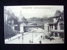 OLD PPC~ HAMBURG-ST.PAULI~ KERSTEN MILES-BRÜCKE~1912