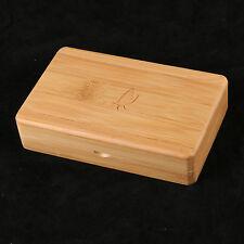 Fly Fishing Box Wooden Bamboo Smooth Surface Tackle Box Storage--143*94*38 mm