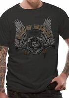 Sons of Anarchy Winged Logo Unisex Official Black Licensed T-Shirt Clay Morrow