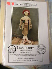"FEMINIST CHEMIST~Lisa Penny RARE 1994~2-version~20"" WHIMSICAL cloth doll pattern"