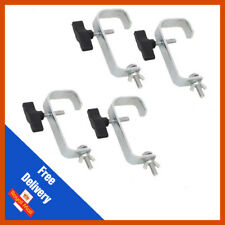 4 x Heavy Duty 50mm G Clamp Steel Hook Bracket | DJ | Truss | Lighting | Chrome