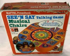 1980 Musical Chairs See N Say by Mattel Still Sealed FREE SHIPPING