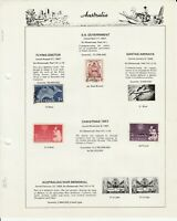 Australia Stamps 1942-1956   58 stamps on 10 Seven Seas Pages Used Hinged