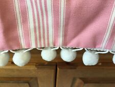 RALPH LAUREN PINK&WHITE STRIPE CUSTOM BEDROOM SET,DUST RUFFLE,VALANCE+2 SHAMS